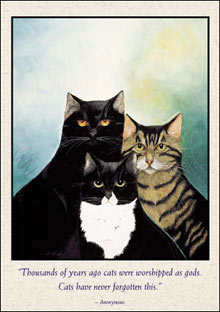 Bottman Design Cats - $2.65 p/c