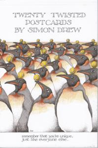 Simon Drew/Post Card Book x 20 Assorted - $9.75 each