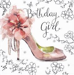 Birthday Girl - Shoe - Message Inside: Happy Birthday