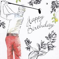 Happy Birthday Golf Message Inside
