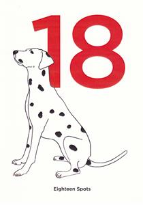 Dalmation Age Cards 125mm x 180mm - $2.75 p/c
