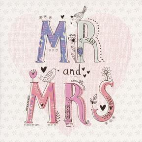 Congratulations On Your Wedding Day.Mr Mrs Greeted Congratulations On Your Wedding Day Roam Cards